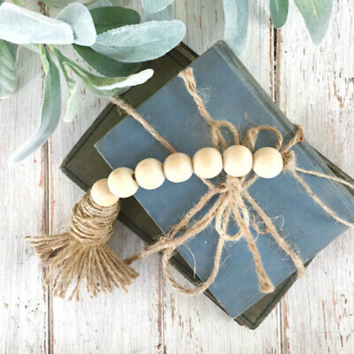Nordic Style Wooden Beads Tassels Hanging Ornament Home Diy Wall Decor