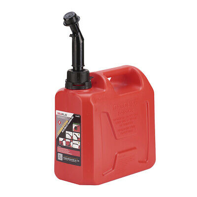 Red 5L Jerry Can Squat Portable Plastic Petrol Diesel Fuel Container Gas Tank