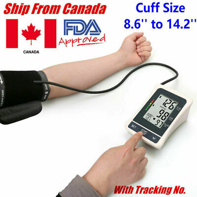 LCD Automatic Upper Arm Blood Pressure Monitor Test Gauge Machine BP Cuff Canada