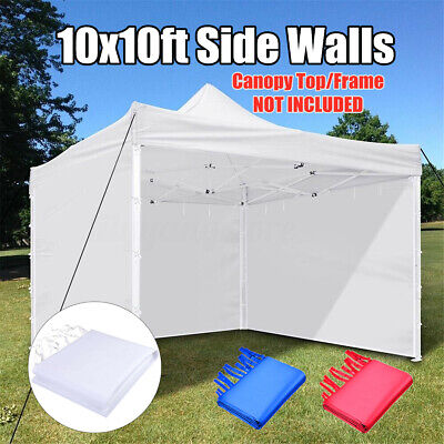 10x10/' EZ Pop Up Canopy Commercial Tent Outdoor Business Gazebo Shelter Sidewall