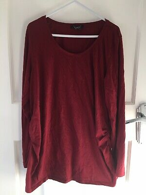 New Look Maternity Ox Blood Long Sleeve Top Size 16