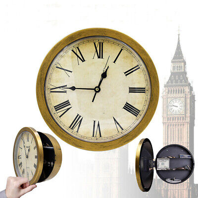 Secret Wall Clock Home Safe Valuables Money Box Stash Cash Jewellery Gold UK New