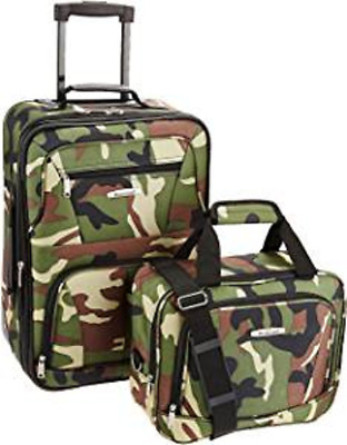 Kids Carry On 2 Pc Luggage Set Boys Girls Camo Carry On Tote