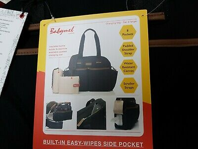 Babymel changing bag Jesse Black BNWT ideal Christmas present for the  mum to be
