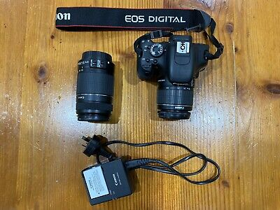 Black Canon eos 650d with kit lenses