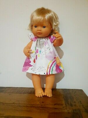 Miniland Doll Clothes rainbow dress 38cm handmade