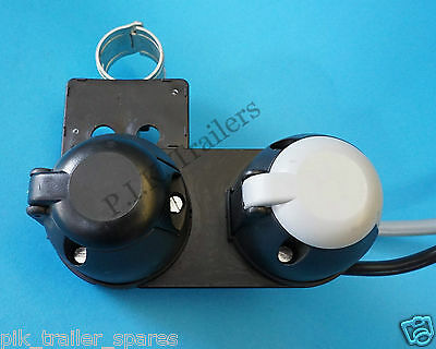 Pre-wired 7 Pin Towing Sockets on Swan Neck Plate for Caravan 12N & 12S