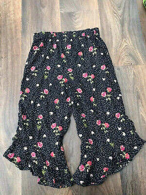 Next Girls Floral Trousers 7 Years Good Condition