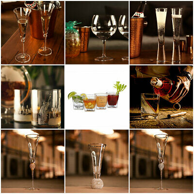Large Drinking Glasses Gin Cocktail Champagne Flute Whiskey Wine Oversized Glass