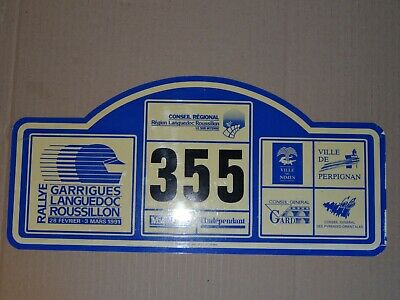 Plaque Rallye Des Garrigues 1991 - Rally Plate