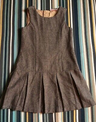 Next Sparkly Herringbone Brown Pleated Pinafore Age 7 yrs #Christmas #Parties