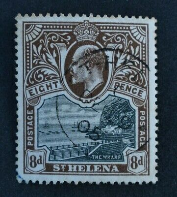 St. HELENA, KEVII, 1903, 8d. black & brown value, SG 58, used condt, Cat £32.