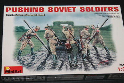 NEW Miniart (35137): Pushing Soviet Soldiers au 1/35