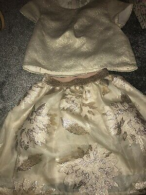 Party Outfit Age 10 Gold Skirt Cropped Top Never Worn
