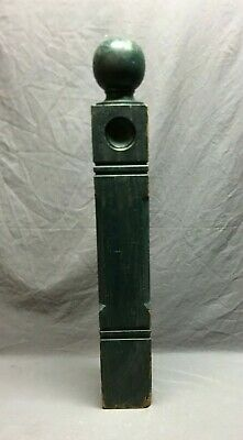 Antique Decorative Solid Wood Turned Newel Post Old Vtg Staircase 64-19B