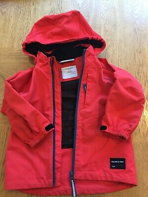 Polarn O. Pyret Watrproof Kids Shell Jacket Age 1.5-2 Years (red)
