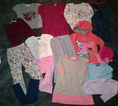 Girls HUGE Age 3-4 Years Winter Bundle Dresses, Tops,Joggers,Jeans,Hat, jeans