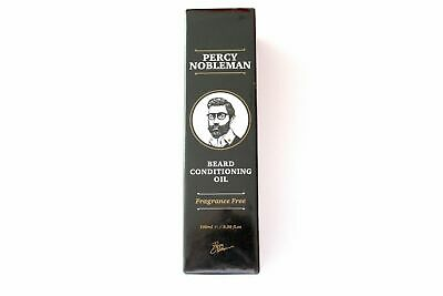 Percy Nobleman Beard Men Conditioning Oil Fragrance Free 3.38oz NEW