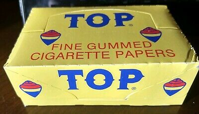 TOP Cigarette Rolling Papers box of 24 packs, 100 Leaves per