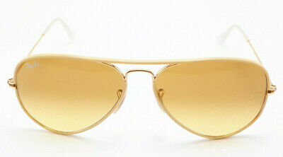 RAY BAN AVIATOR RB3025JM Size 58 Yellow/Gold frame - Yellow gradient lenses