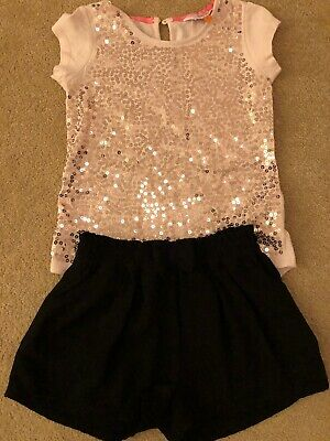 Girls Ted Baker Sparkly Outfit Age 4-5 VGC