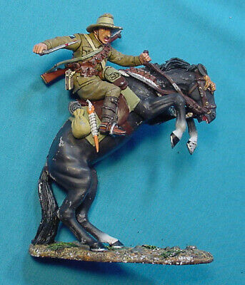 King & Country Australian Cavalry Soldier On Horse Rearing Up, Al 014, Used