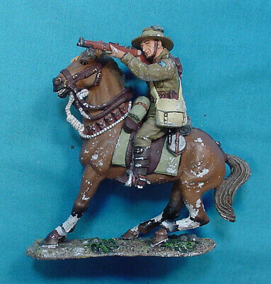 King & Country Australian Cavalry Soldier On Horse Back Al 016, Used