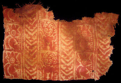 Pre-Columbian Chancay Painted Textile Fragment