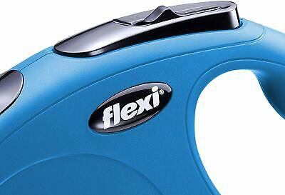 Flexi Classic Retractable Tape Leash for Dogs Up to 33 Pounds Small Blue 16 Feet