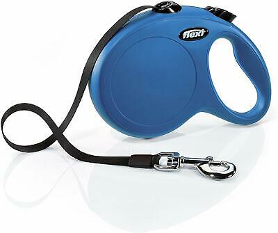 Flexi Classic Retractable Tape Leash for Dogs Up to 110 Pounds Large Blue 16Feet