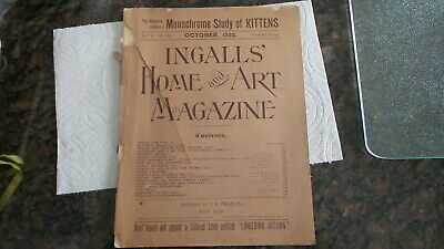 October 1892 INGALLS'  HOME & ART MAGAZINE Fancy Work