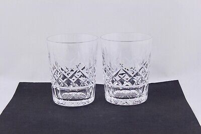 Set Of 2 Waterford Crystal Lismore 12Oz Doubled Old Fashioned Glasses – Mint