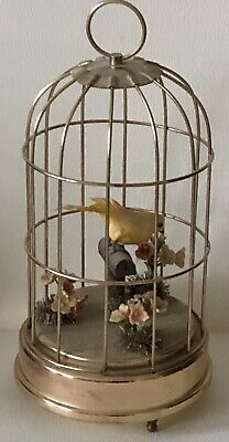 Vintage SINGING BIRD Cage Music Box Plays Oh! What a Beautiful Day! Schmid Japan