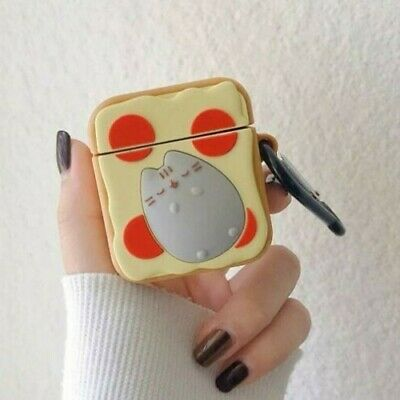 Pusheen Pizza Airpods Case Cover Cute Cat Airpod Case
