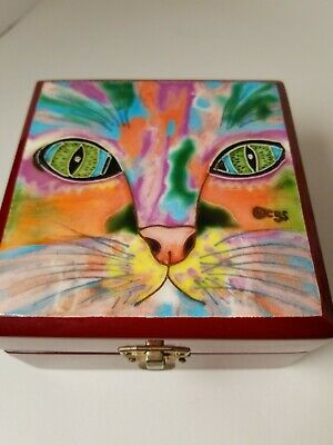 Cat Faces Colorful Boxes gbc Fleece Scarf