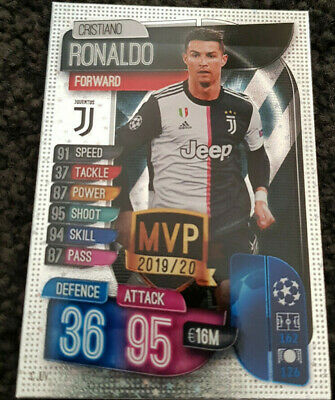 2019/20 Match Attax Topps UEFA Football Soccer Cards - Cristiano Ronaldo MVP