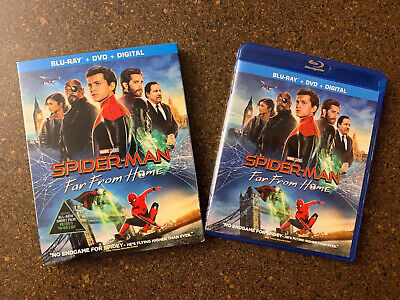 Spider-man: Far From Home (Blu-ray, DVD, 2019, 2 Discs, w/ Slipcover) No Digital