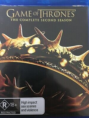 GAME OF THRONES - Season 2 5 x BLURAY Set AS NEW! Complete Second Series Two