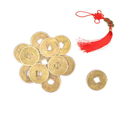 50Pcs Traditional Feng Shui Chinese Coins Lucky Fortune Wealth Jewelry Making ZB