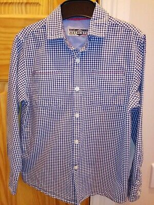 Smart Blue And White Checked Shirt From Next (Age 6)
