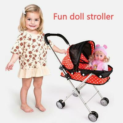 Baby Stroller Infant Carriage Trolley Nursery Toy For Simulation Doll Accessory