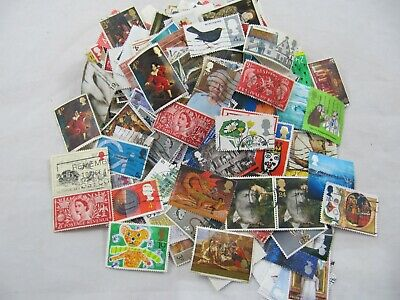 100 gm Different GB~Various Eras~Used Stamps~Pre and Post Decimal off paper