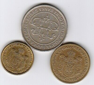 3 different world coins from SERBIA