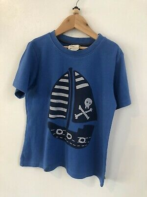 Boys Frugi Pirate T-Shirt 7-8 Yrs Organic Cotton Playwear