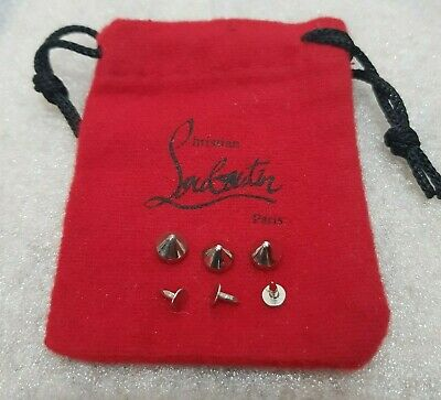 Beads for Christian Louboutin Shoes Silver Plastic Original