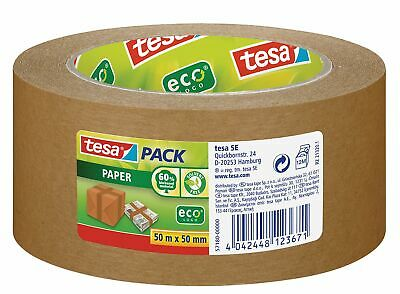 tesa Paper Packaging Tape Made From Recycled Materials for Packing Parcels and