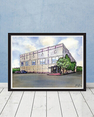 The Office Pam's Watercolor Painting Scranton Schrute Michael Scott Gift Poster