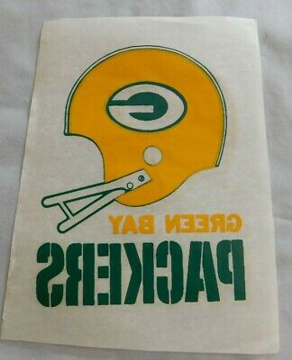 Vintage Green Bay Packers Football Helmet Iron on T-shirt Decal