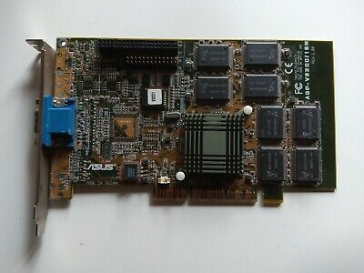 3dfx Voodoo Banshee Asus V3200 16Mb AGP VGA Retro Glide Gaming *tested working*