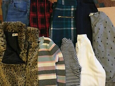 girls winter bundle age 11/12 years h and m, new look, kylie etc